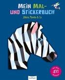 Mein Mal- und Stickerbuch: Zebra, Panda & Co