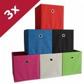 "3er-Set Faltbox Klappbox ""Boxas"" - ohne Deckel"