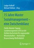 15 Jahre Master Sozialmanagement - eine Zwischenbilanz
