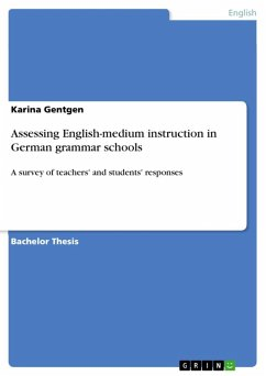Assessing English-medium instruction in German grammar schools (eBook, ePUB)