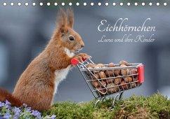 Eichhörnchen Luna und ihre Kinder (Tischkalender 2018 DIN A5 quer)