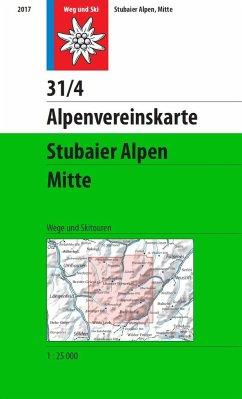 Alpenvereinskarte Stubaier Alpen, Mitte