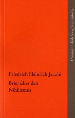 Brief über den Nihilismus - Jacobi, Friedrich Heinrich