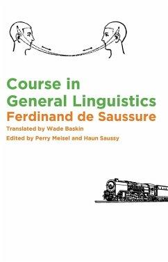 Course in General Linguistics (eBook, ePUB) - Saussure, Ferdinand De