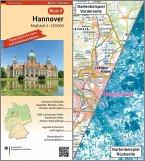 Topographische Karte und Satellitenbildkarte Hannover