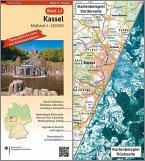 Topographische Karte und Satellitenbildkarte Kassel