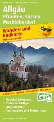 PublicPress Wander- und Radkarte Allgäu, Pfronten, Füssen, Marktoberdorf