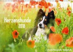 Herzenshunde 2018 (Wandkalender 2018 DIN A3 quer)