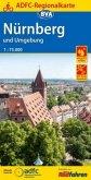 ADFC-Regionalkarte Nürnberg und Umgebung mit Tagestouren-Vorschlägen, 1:75.000, reiß- und wetterfest, GPS-Tracks Downloa