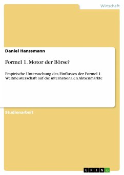 Formel 1. Motor der Börse?