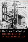 The Oxford Handbook of the Sources of International Law (eBook, ePUB)