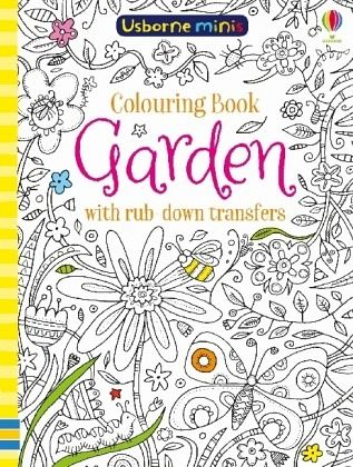 Colouring Book Garden with Rub Downs
