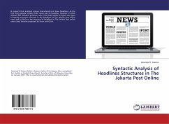 Syntactic Analysis of Headlines Structures in The Jakarta Post Online