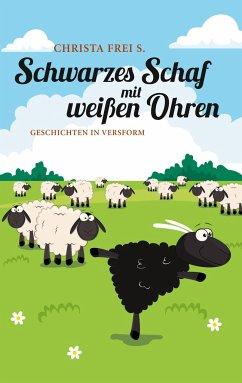Schwarzes Schaf mit weißen Ohren