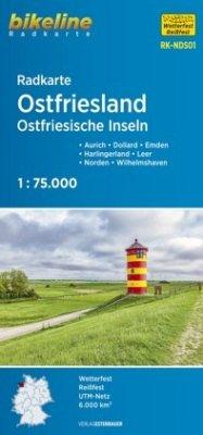 Bikeline Radkarte Ostfriesland Ostfriesische Inseln