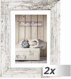 2x1 ZEP Nelson 6 weiß/br. 20x30 Holz Bilderrahmen V21236