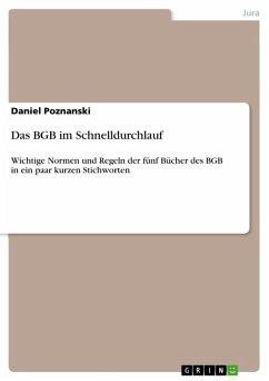 Das BGB im Schnelldurchlauf (eBook, ePUB)