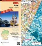 Topographische Karte und Satellitenbildkarte Köln