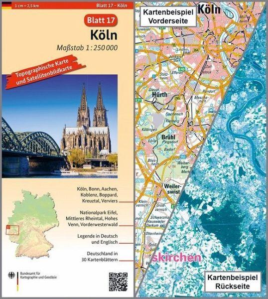 Köln Karte Deutschland.Topographische Karte Und Satellitenbildkarte Köln