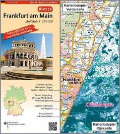 Topographische Karte und Satellitenbildkarte Frankfurt am Main