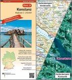 Topographische Karte und Satellitenbildkarte Konstanz