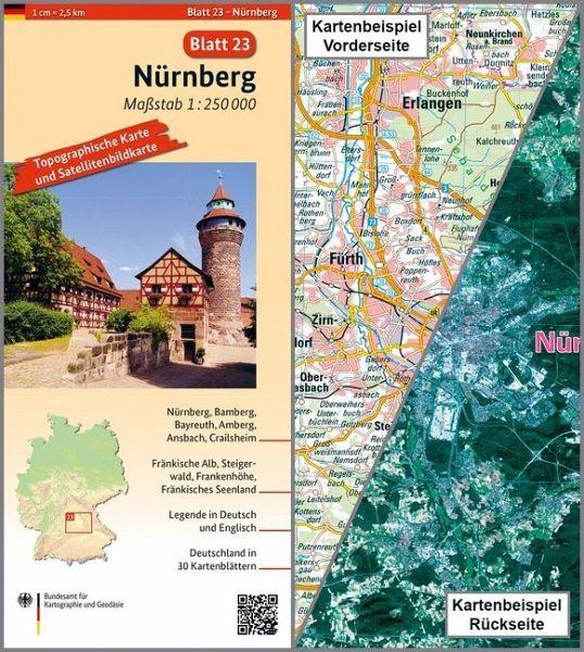 Nürnberg Karte Deutschland.Topographische Karte Und Satellitenbildkarte Nürnberg