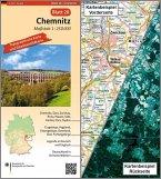 Topographische Karte und Satellitenbildkarte Chemnitz