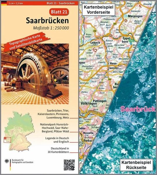 Hunsrück Hochwald Karte.Topographische Karte Und Satellitenbildkarte Saarbrücken