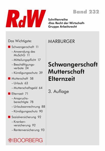 Schwangerschaft Mutterschaft Elternzeit Ebook Pdf Von Horst