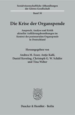 Die Krise der Organspende.