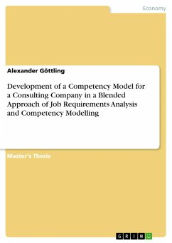 9783668554603 - Göttling, Alexander: Development of a Competency Model for a Consulting Company in a Blended Approach of Job Requirements Analysis and Competency Modelling - Buch