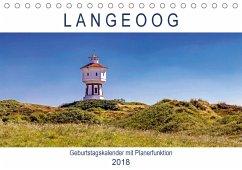 Langeoog Geburtstagskalender (Tischkalender 2018 DIN A5 quer)