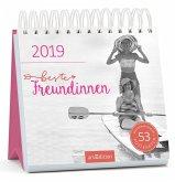 Beste Freundinnen 2019. Postkartenkalender