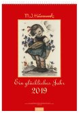 Ein glückliches Jahr 2019. Hummel Wandkalender