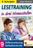 Lesetraining in drei Niveaustufen / Klasse 9 (eBook, PDF)