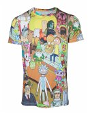 Rick und Morty T-Shirt -S- All over Print
