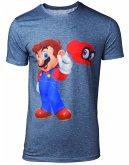 Super Mario T-Shirt -2XL- Odyssey Mario & Cappy, g