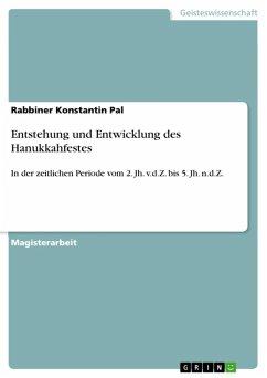 Entstehung und Entwicklung des Hanukkahfestes (eBook, ePUB)