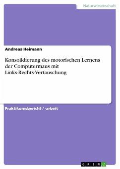Konsolidierung des motorischen Lernens der Computermaus mit Links-Rechts-Vertauschung (eBook, ePUB)