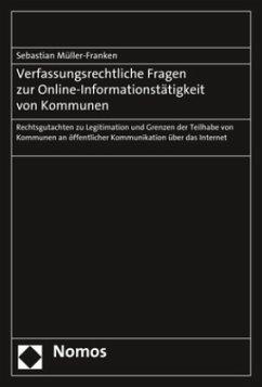 Verfassungsrechtliche Fragen zur Online-Informa...