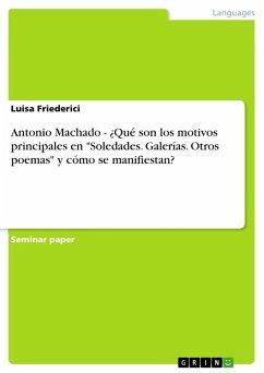 Antonio Machado - ¿Qué son los motivos principales en