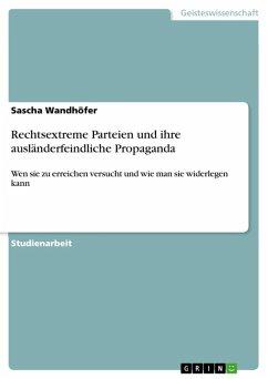 Rechtsextreme Parteien und ihre ausländerfeindliche Propaganda (eBook, ePUB)