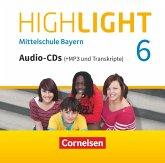 Highlight - Mittelschule Bayern - 6. Jahrgangsstufe, 3 Audio-CDs (+MP3 und Transkripte) / Highlight - Mittelschule Bayern