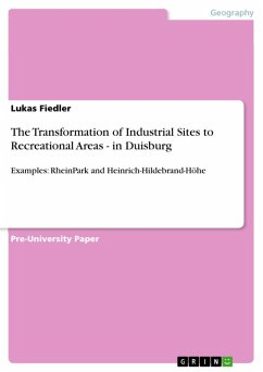 The Transformation of Industrial Sites to Recreational Areas - in Duisburg (eBook, ePUB)