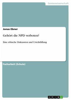 Gehört die NPD verboten? (eBook, ePUB)