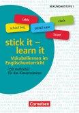 Aufkleber für den Fremdsprachenunterricht - Englisch - Klasse 5-10