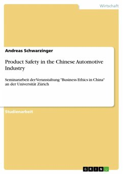 Product Safety in the Chinese Automotive Industry (eBook, ePUB)
