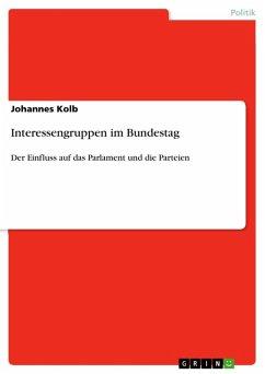 Interessengruppen im Bundestag (eBook, ePUB)