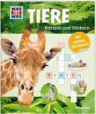 Rätseln und Stickern: Tiere