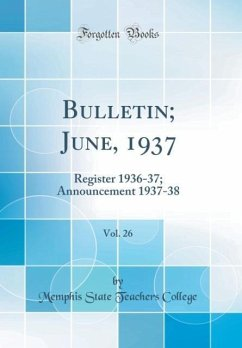 Bulletin; June, 1937, Vol. 26